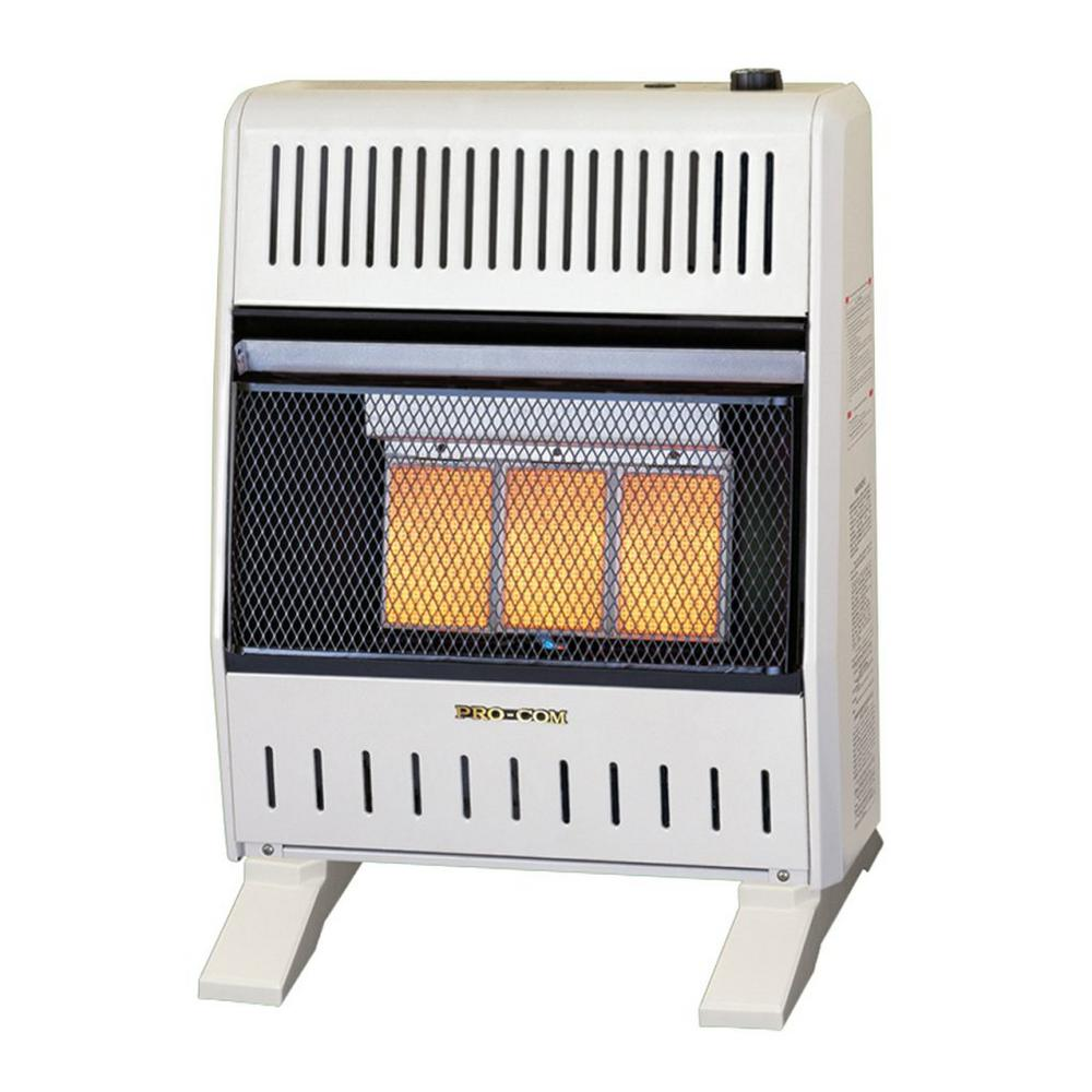 Dual Fuel Ventless Infrared Heater - 18-20,000 BTU