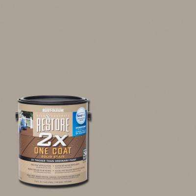 1 gal. 2X Brownstone Solid Deck Stain with NeverWet