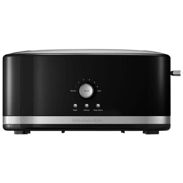 Kitchenaid 4 Slice Onyx Black Long Slot Toaster With Crumb
