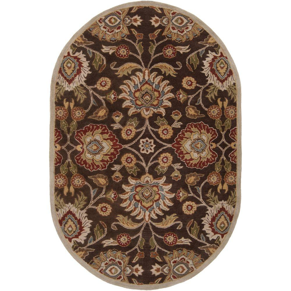 Artistic Weavers Cambrai Chocolate 8 Ft X 10 Ft Oval