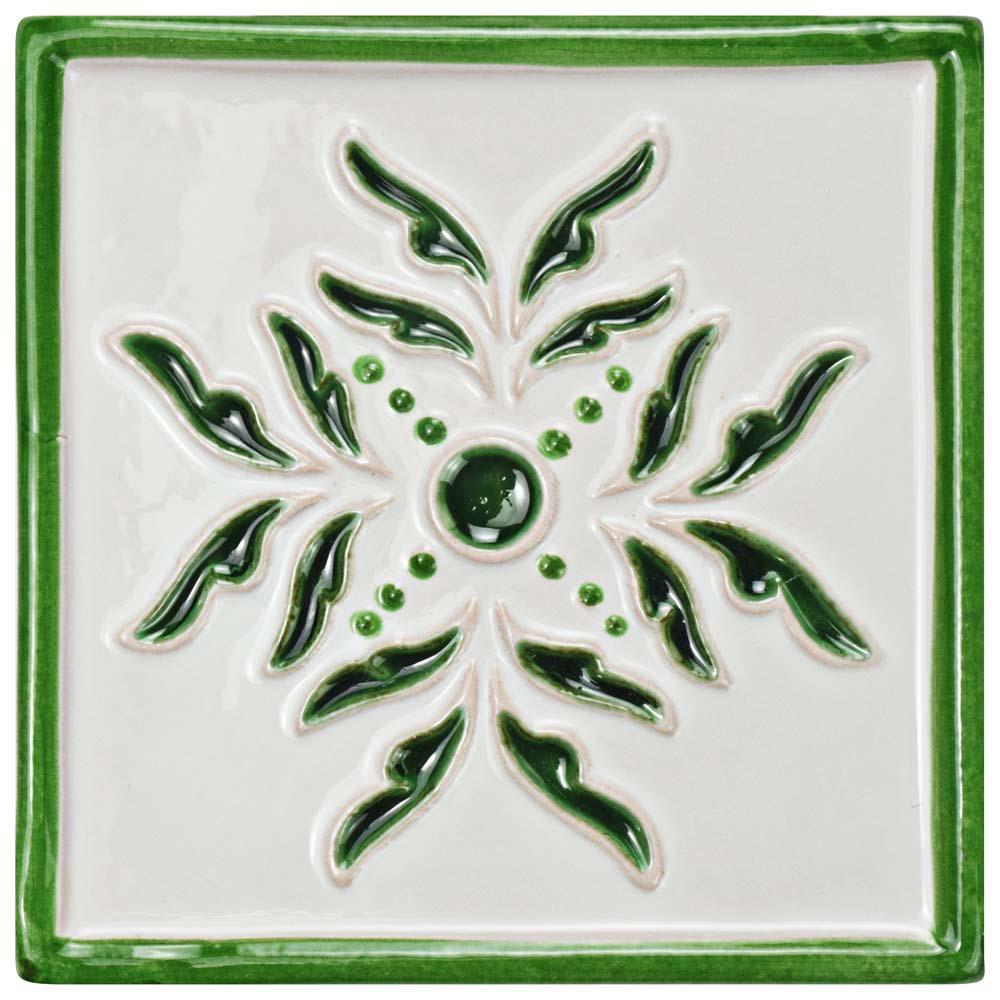 Novecento Taco Evoli Verdin 5-1/4 in. x 5-1/4 in. Ceramic Wall Tile