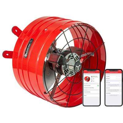 QuietCool 2860 CFM Smart App Controlled 2-Speed Gable Mount Attic Fan