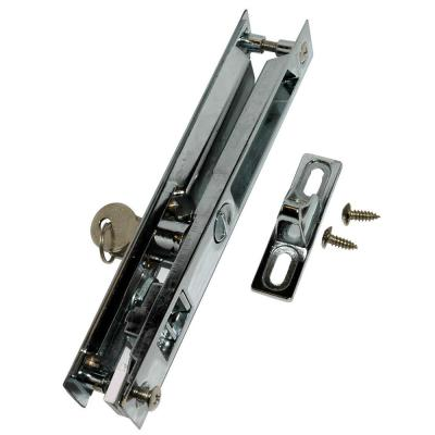 Chrome-Plated Patio Door Lock with Key