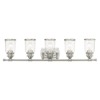 Lawrenceville 5 Light Brushed Nickel Bath Vanity