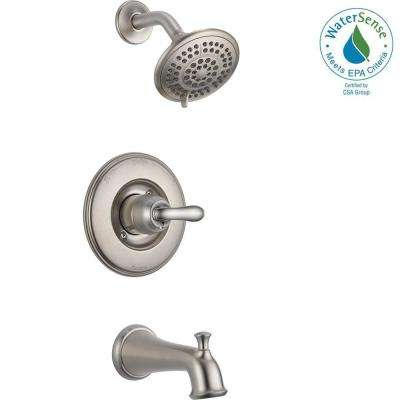 Linden 1-Handle 1-Spray Tub and Shower Faucet Trim Kit in Stainless (Valve Not Included)