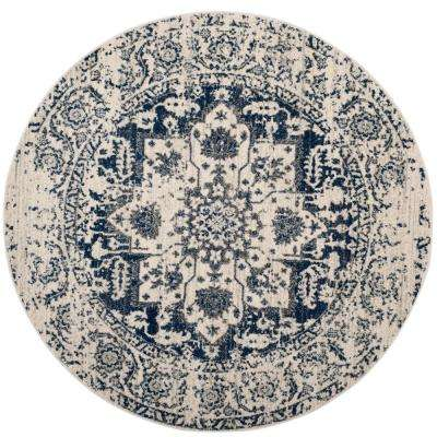 7 Round Distressed Area Rugs Rugs The Home Depot