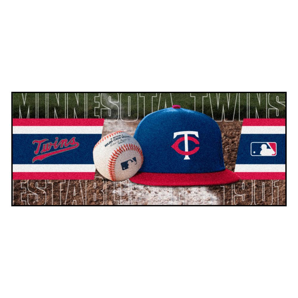 Minnesota Twins 3 ft. x 6 ft. Baseball Runner Rug
