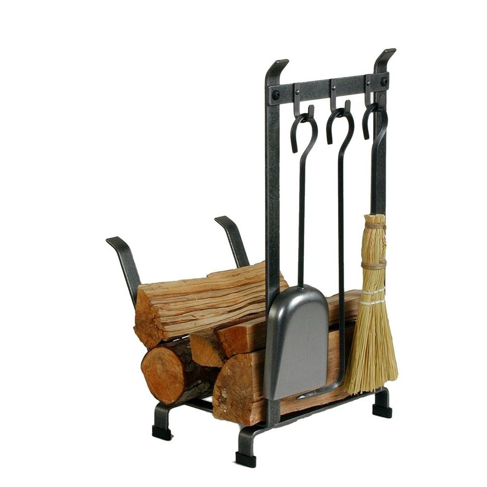 Enclume 1.25 ft. Country Home Log Rack Fireplace Tools with ...