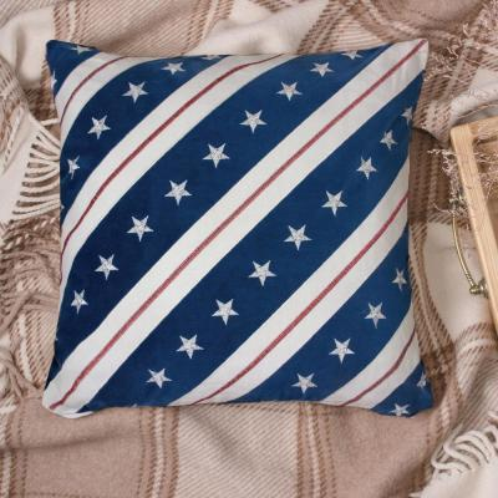 American Flag Multicolor Decorative Pillow (Set of 2)