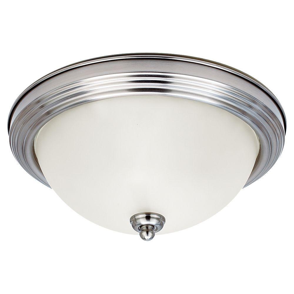 Sea Gull Lighting 1-Light Brushed Nickel Flushmount-77063-962 - The ...