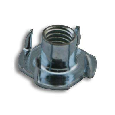 3/8 in. - 16 TPI x 7/16 in. L 4-Prong Zinc-Plated Tee Nut (1000-Pack)