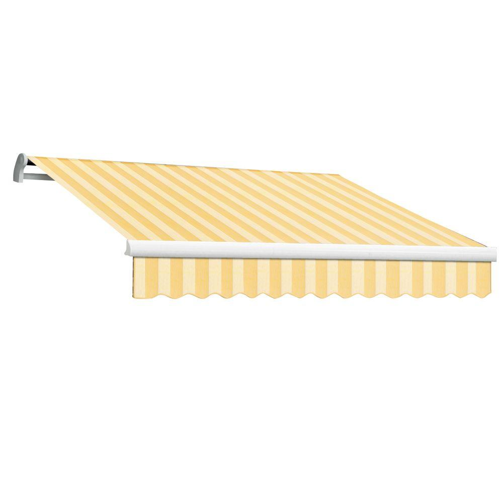 null 20 ft. Maui-LX Right Motor Retractable Acrylic Awning with Remote (120 in. Projection) in Almond Multi