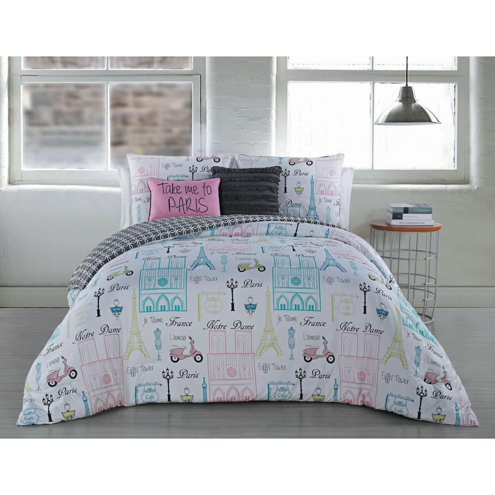 Dominique 5-Piece Mint King Comforter Set