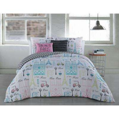 Dominique 5-Piece Mint King Comforter Set