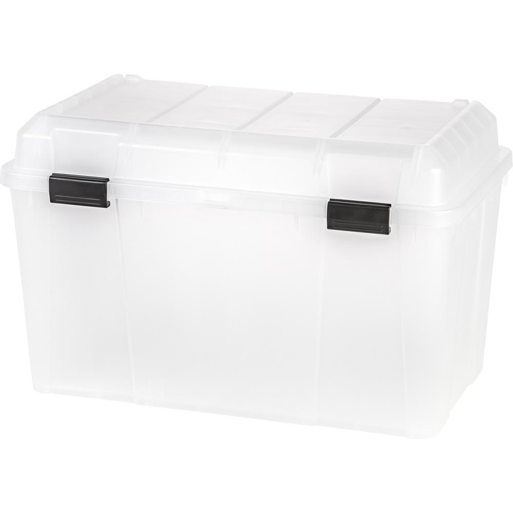 Iris 138 Qt Storage Bin In Clear
