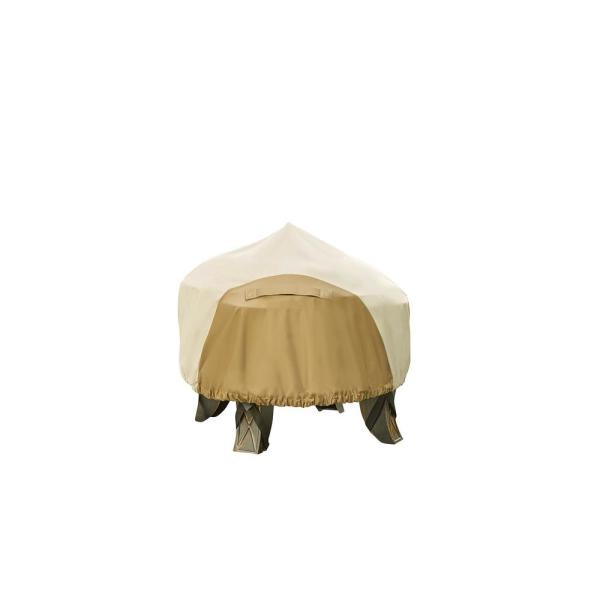 30 in. Round Outdoor Patio Fire Pit Cover