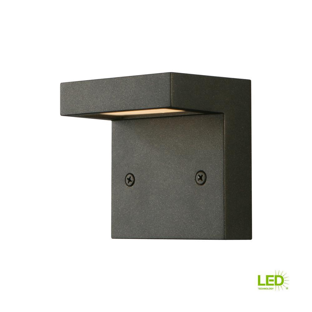 3-Watt Architectural Black Integrated LED Deck Light