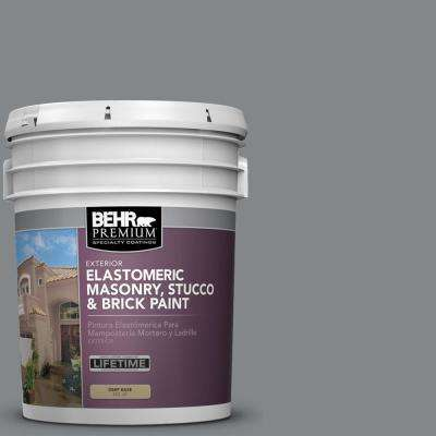 5 gal. #N500-5 Magnetic Gray color Elastomeric Masonry, Stucco and Brick Exterior Paint