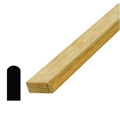 WM 8144 11/16 in. x 1-3/4 in. x 96 in. Pine Stair Nose Moulding