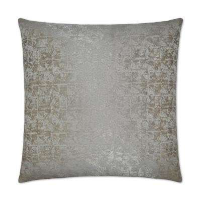 Anton Silver Feather Down 24 in. x 24 in. Decorative Throw Pillow