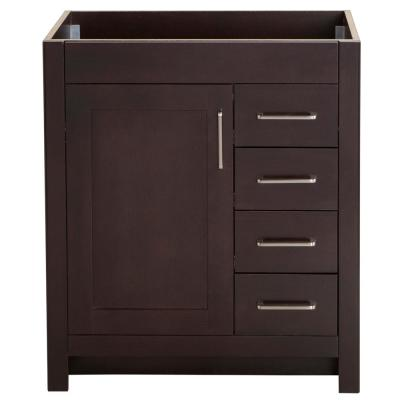 Westcourt 30 in. W x 21 in. D Bathroom Vanity Cabinet Only in Chocolate