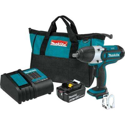 18-Volt LXT Lithium-Ion Cordless 1/2 in. Sq. Drive Impact Wrench Kit, (3.0Ah)