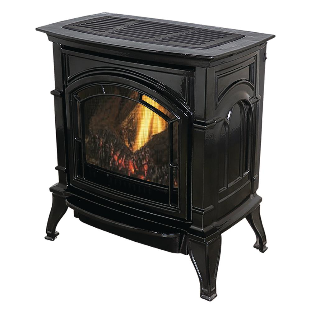 000 BTU Vent Free Natural Gas Stove Black Enameled Porcelain Cast Iron-AGC500VFBN - The Home Depot