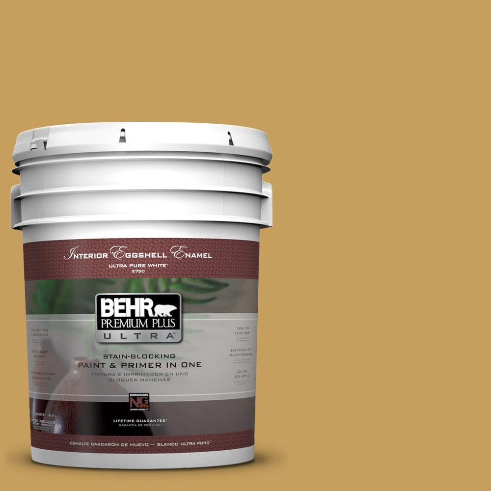 BEHR Premium Plus Ultra 5-gal. #M300-5 Ginger Jar Eggshell Enamel Interior Paint