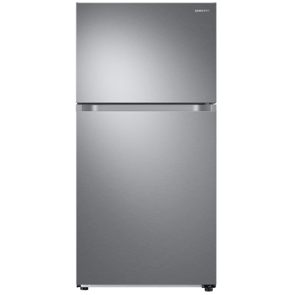Samsung 21.1 cu. ft. Top Freezer Refrigerator with FlexZone Freezer in Stainless, Energy Star, Ice Maker, Silver This Samsung Top Freezer Refrigerator truly is one of a kind and unlike any other. Featuring FlexZone, which is a versatile top door that can be a fridge or freezer, maximizing fresh food storage space. This allows you to expand your refrigerator space to chill your favorite beverages, snacks or party food. Unless you simply keep it as a freezer, but this is completely up to you. It also has Twin Cooling Plus, which maintains the humidity level of the refrigerator keeping foods fresher, longer. For example, dry freezer conditions for less freezer burn and better tasting foods. This particular model comes with an icemaker, but can also be purchased without (model #RT21M6213SR). Color: Stainless Steel.