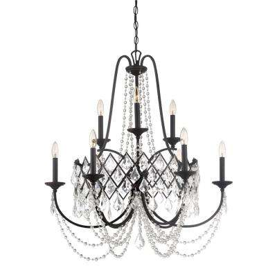 Designers fountain chandeliers lighting the home depot ravina 9 light vintage bronze chandelier with faceted crystal accents shade aloadofball Choice Image