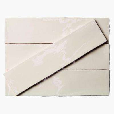 Catalina Vanilla 3 in. x 12 in. x 8 mm Ceramic Wall Subway Tile