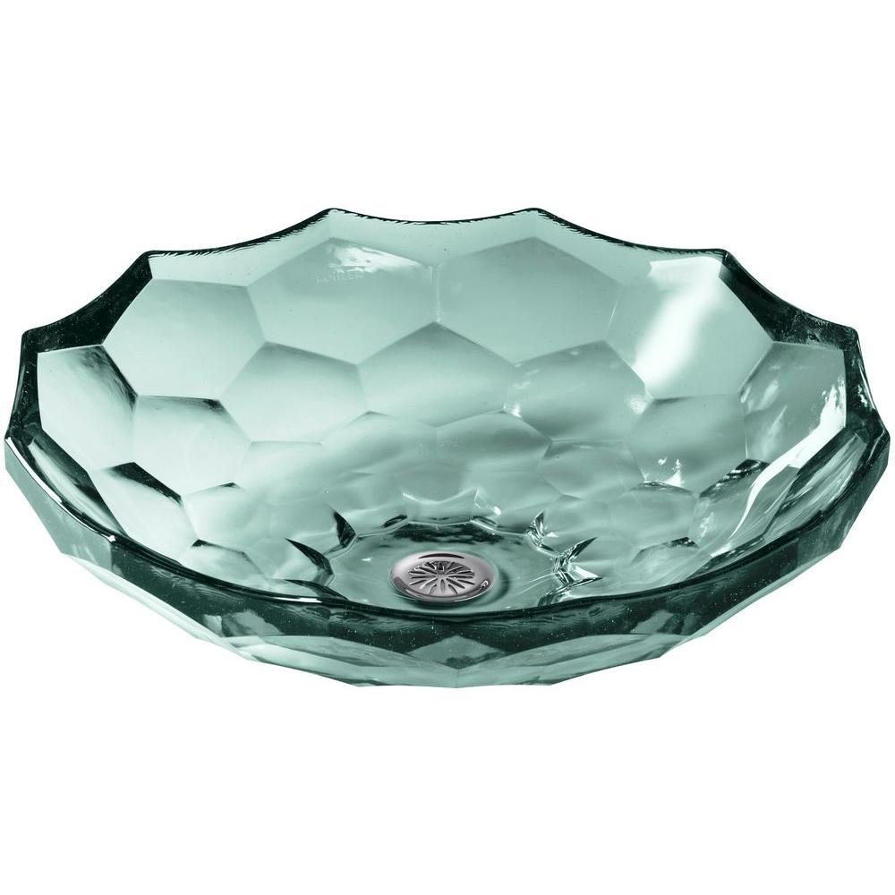 KOHLER Briolette Glass Vessel Sink in Translucent Dew-K-2373-TG2 ...