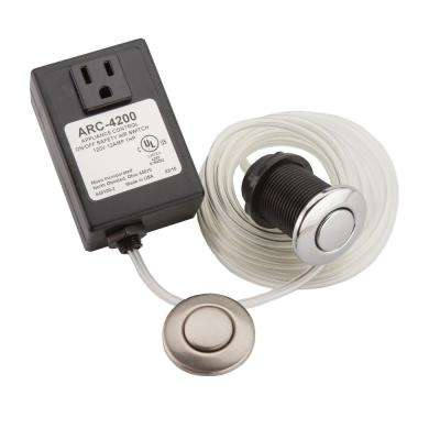 Garbage Disposal Air Switch Controller Base Unit with Chrome and Satin Nickel Air Switch Buttons