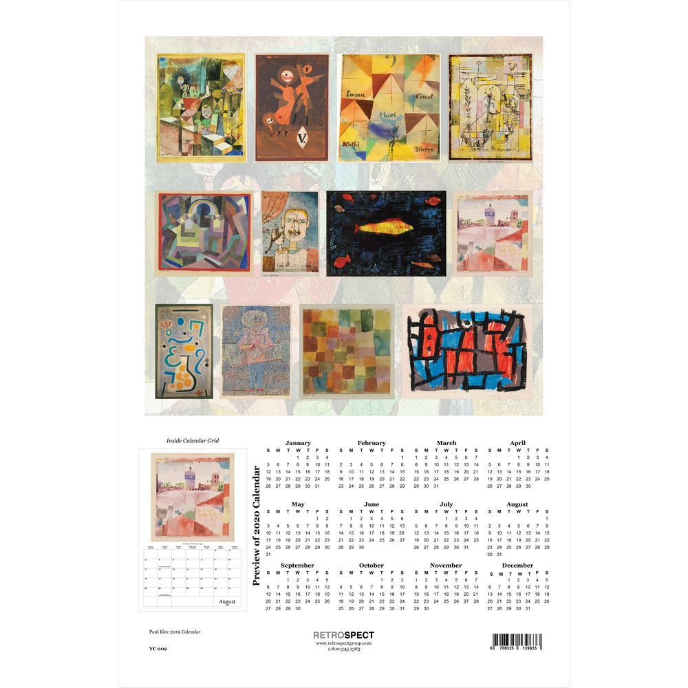 19 in. H x 12.5 in. W Paul Klee - 2019 Calendar