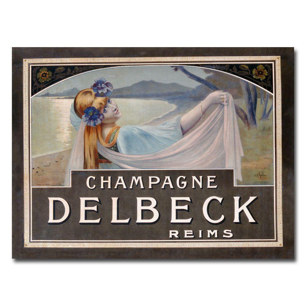 Trademark Fine Art 26 in. x 32 in. Champagne Delbeck 1910 Canvas Art