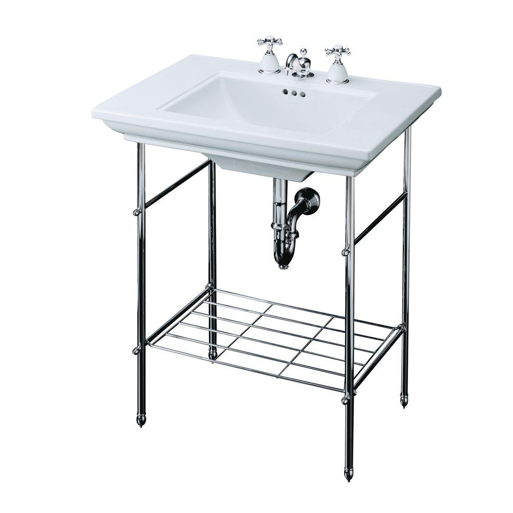 Kohler Memoirs Table Legs Only In Polished Chrome
