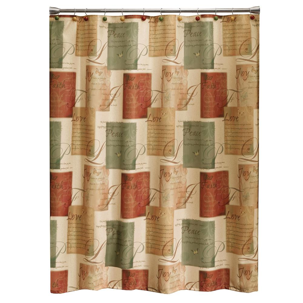 Tranquility 72 in. Spice Shower Curtain
