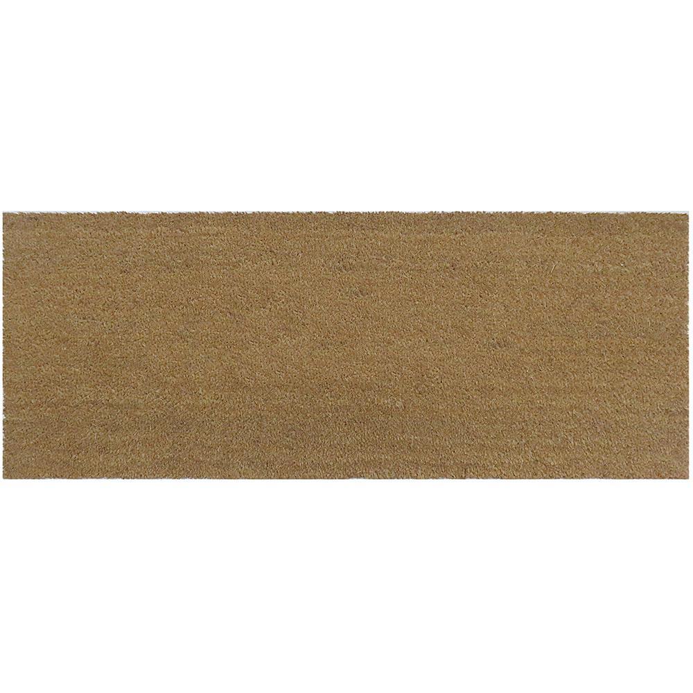 Natural Coir 47 in. x 18 in. Slip Resistant Coir Door Mat