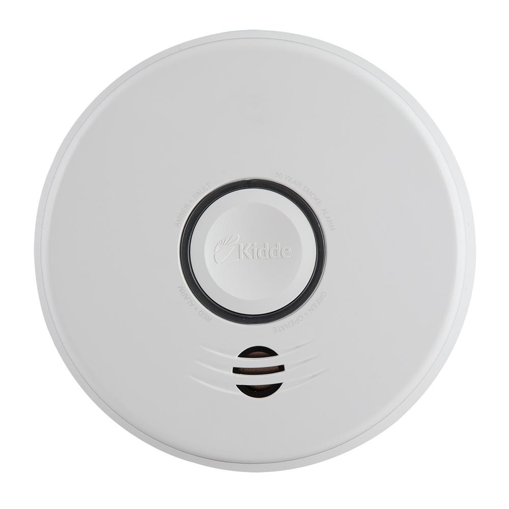 Kidde Battery Operated Smoke Detector With Wire Free Interconnect Wiring Detectors Off Lighting Circuit Hardwire 10 Year Backup And Voice Alarm