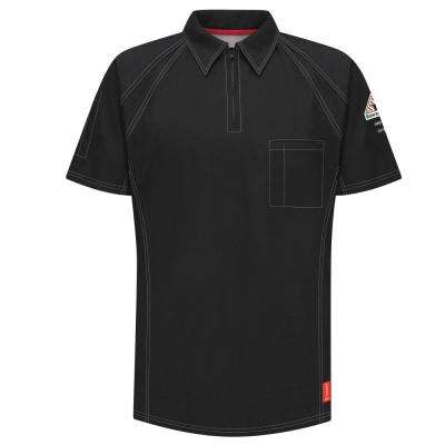 IQ Men's Large Black Short Sleeve Polo