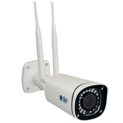 Wired Indoor/Outdoor 5MP Bullet Camera Dual-Band Wi-Fi PoE Motorized Zoom IP 67 Rated 130 ft. Night Vision