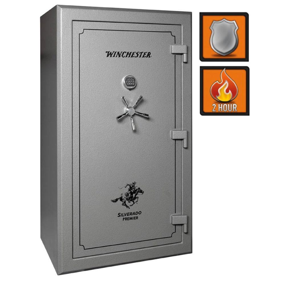 Winchester Safes Silverado Premier 49 54-Gun Granite Gloss Fire-Safe Electronic Lock