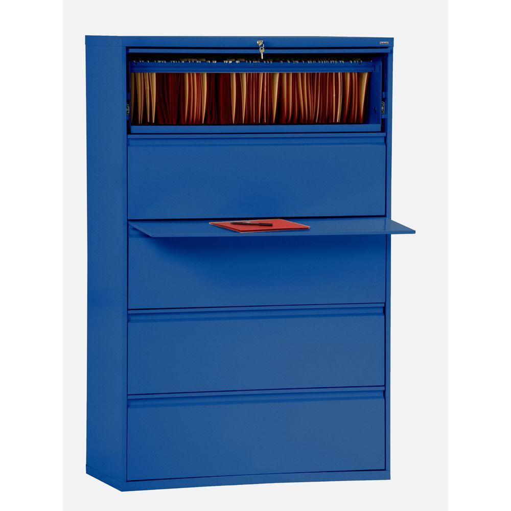 800 Series Blue File Cabinet