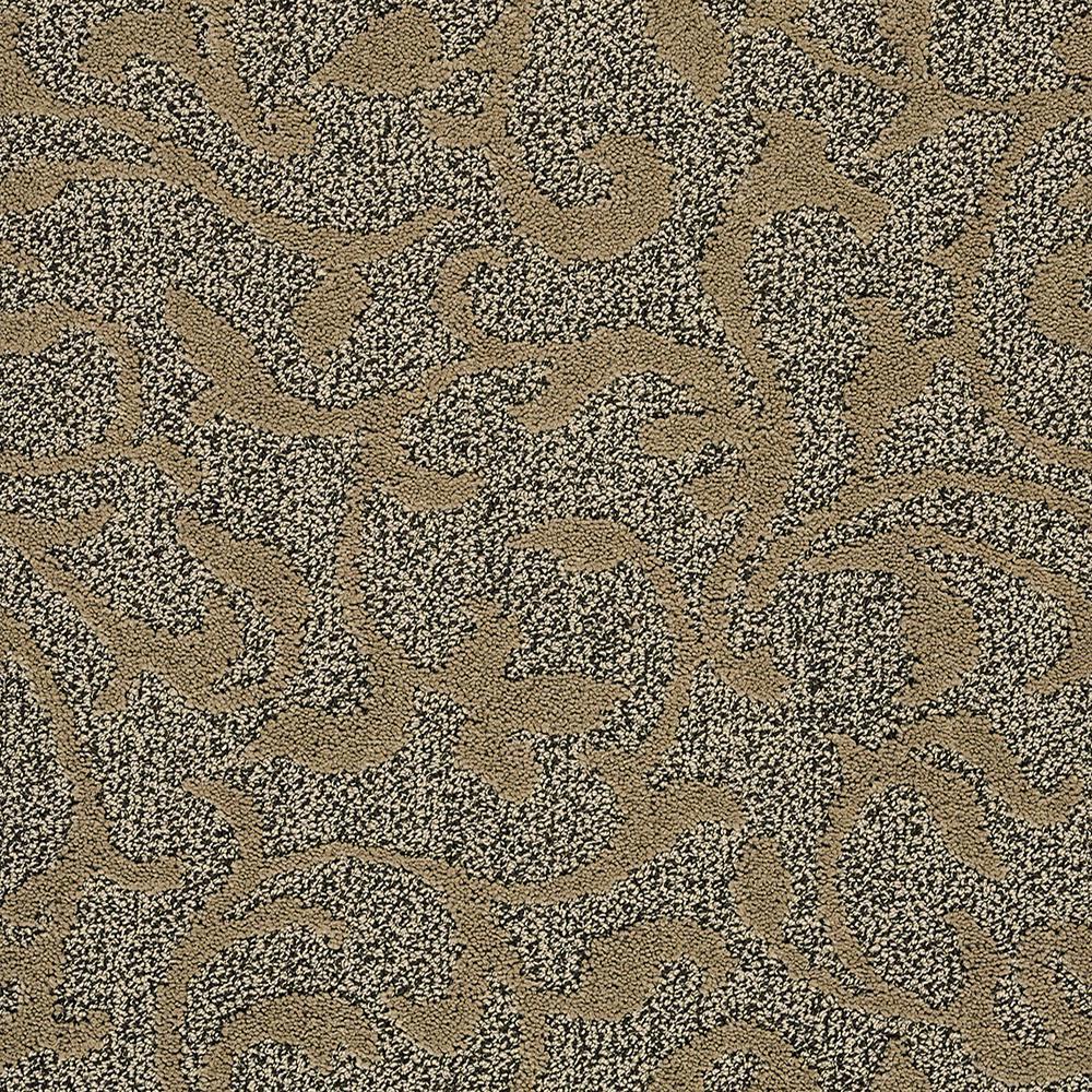 Swirling Vines - Color Desert Sand Pattern 12 ft. Carpet