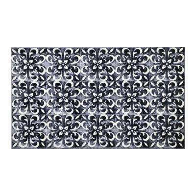 In-Home Washable/Non-Slip Modern Villa 2 ft. 3 in. x 3 ft. 11 in. Area Rug & Mat