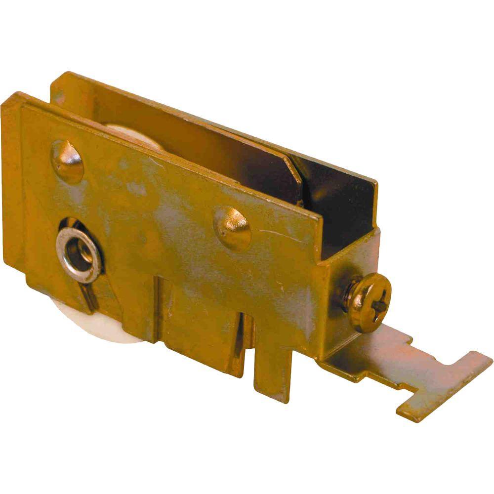 International Sliding Glass Door Roller Assembly, 1-1/4 in. Nylon Ball Bearing Roller, 5/8 in. x 13/16 in. Housing