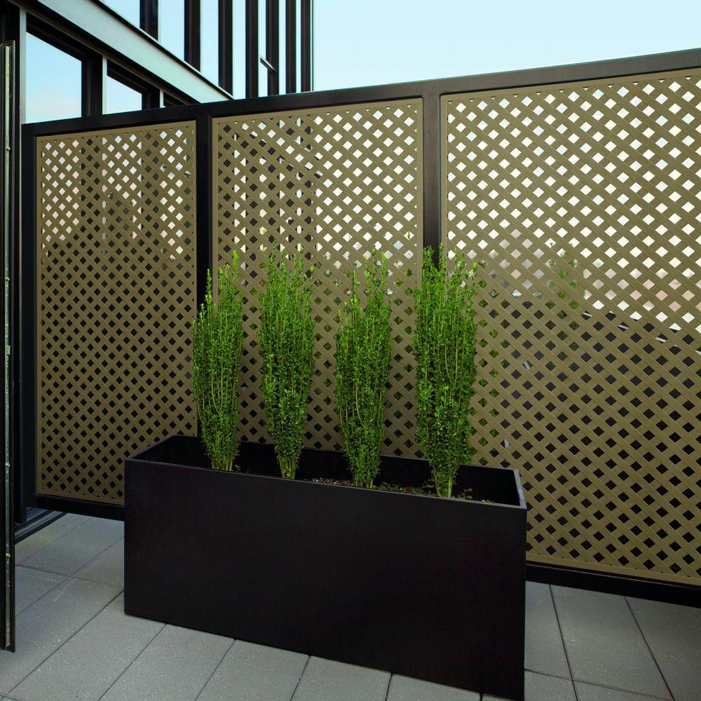 Brazilian Walnut Privacy Plastic Lattice 0 2 X 48 8ft Home Veranda Decor