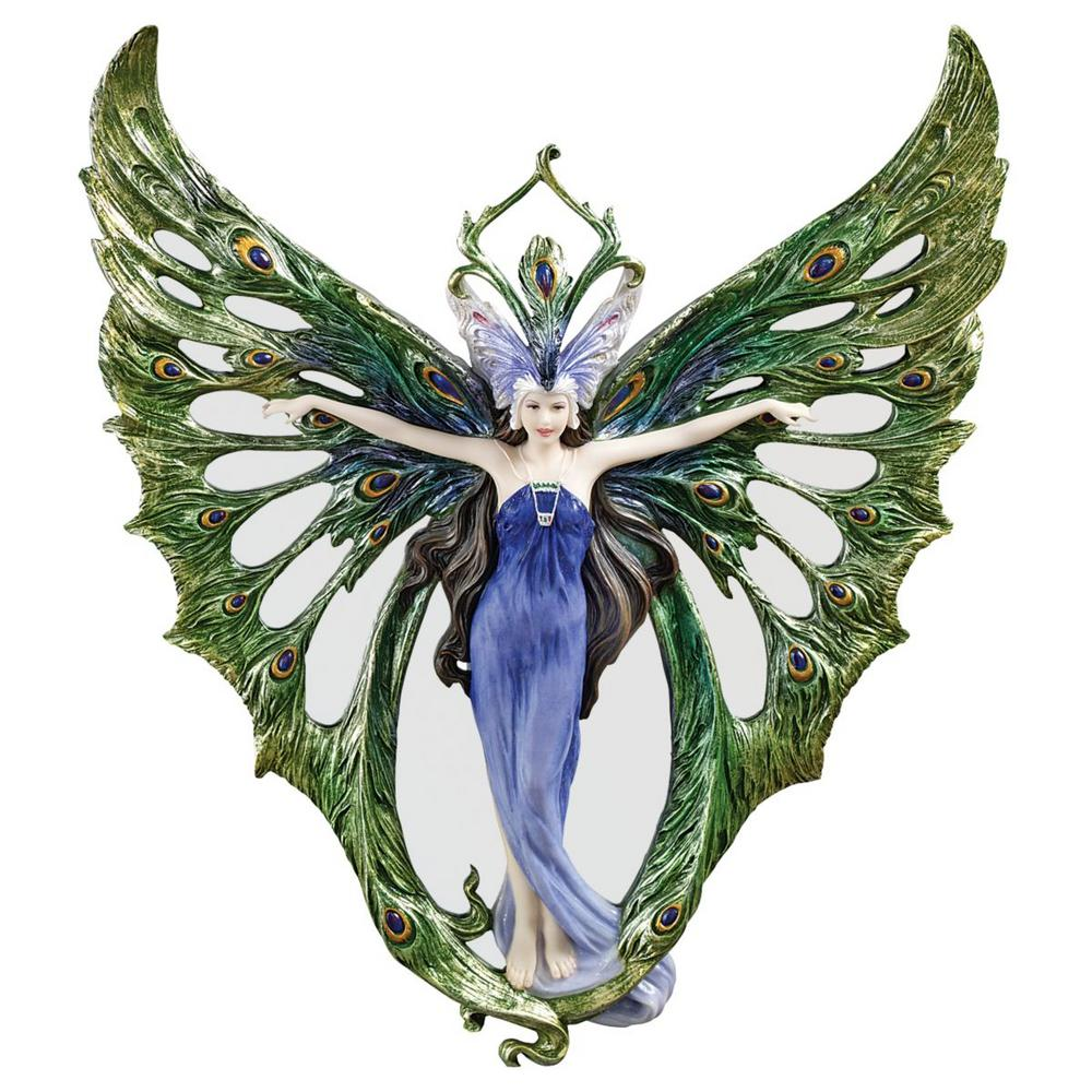 14.5 in. H The Winged Peacock Princess Wall Sculpture (Set of