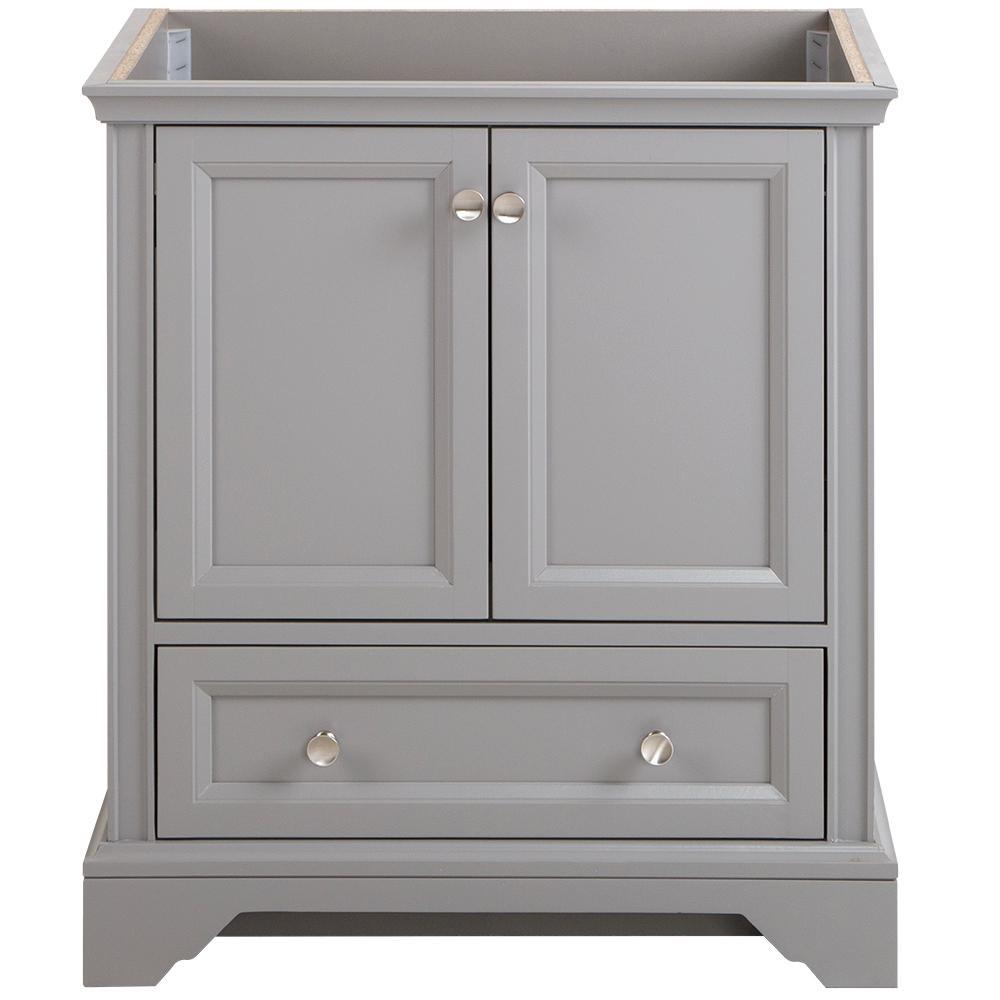 Stratfield 30 in. W x 22 in. D x 34 in. H Bath Vanity Cabinet Only in Sterling Gray