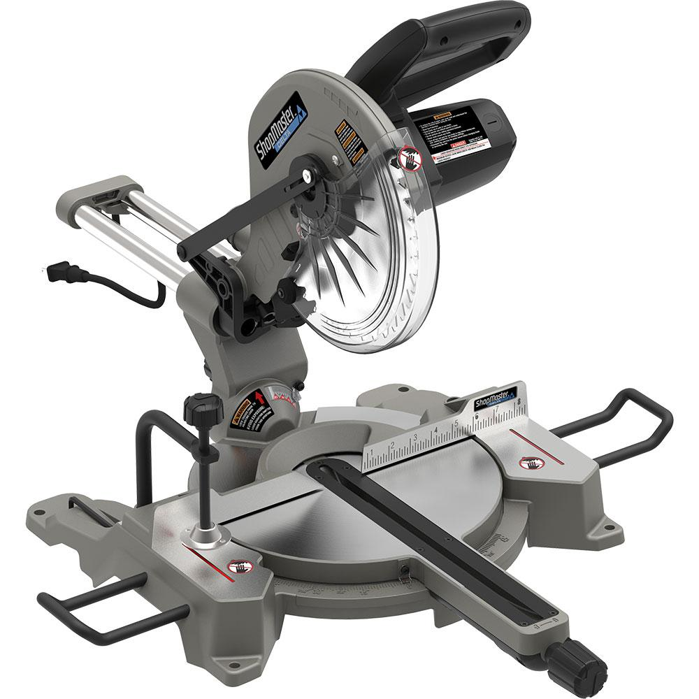 Shopmaster 12 in. Sliding Single Bevel Miter Saw With Laser
